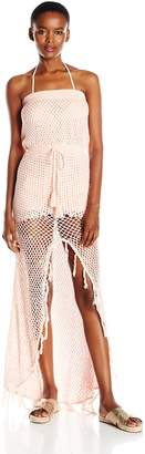 MinkPink Women's Woven Together Crochet Lined Cover up Dress