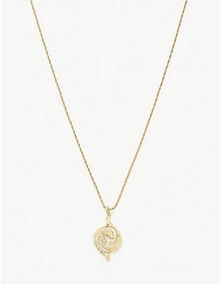 Vanessa Mooney Pisces 24ct gold-plated necklace