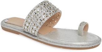 Lauren Lorraine Jay Embellished Slide Sandal