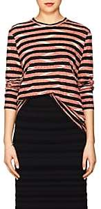 Proenza Schouler Women's Chevron-Striped Cotton Jersey Long-Sleeve T-Shirt-Red, Blush