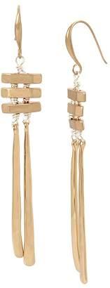 Robert Lee Morris Soho Two-Tone Wire Wrap Chandelier Earrings