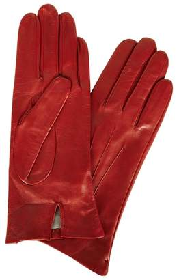 Dents Red Silk-lined Leather Gloves