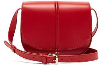 A.P.C. Betty Leather Cross Body Bag - Womens - Red
