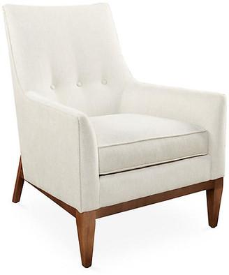 One Kings Lane Lena Chair - Sand Chenille