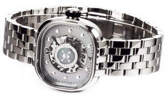 Tulipenoire Skull & Crossbones Medallion Mechanical Watch