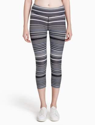 Calvin Klein striped cropped leggings