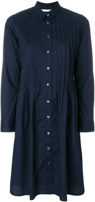 Parker Chinti & pintuck shirt dress