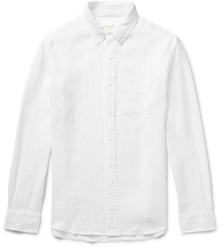 Club Monaco Slim-Fit Button-Down Collar Linen Shirt