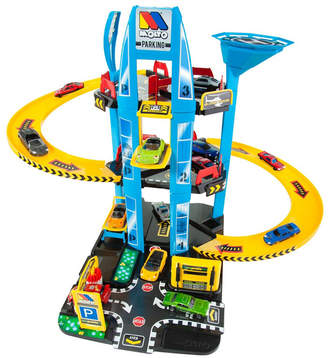story. Molto - Parking Playset, 5 With Helicopter