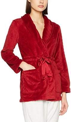 Bata women'secret Women's Polar Detalles Satén Dressing Gown, (Reds 61), Medium