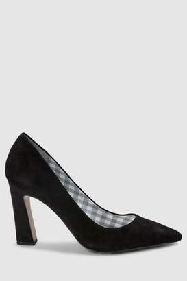 Next Womens Black Suede Forever Comfort Leather Point Block Heels