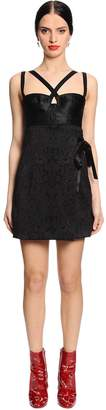 Dolce & Gabbana Stretch Jacquard & Satin Mini Dress