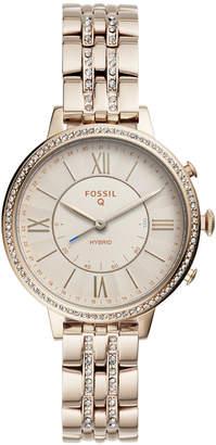 Fossil Q Women Jacqueline Pastel Pink Stainless Steel Bracelet Hybrid Smart Watch 36mm