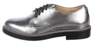 Jimmy Choo Patent Leather Round-Toe Oxfords