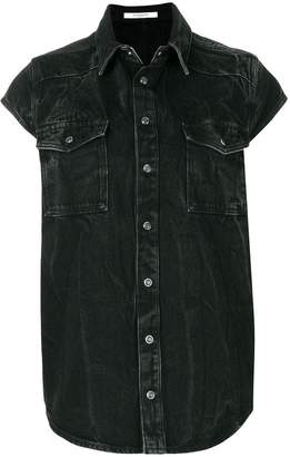 Givenchy denim shortsleeved shirt