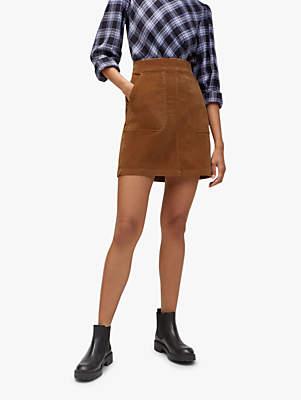 Warehouse Cord A-Line Skirt
