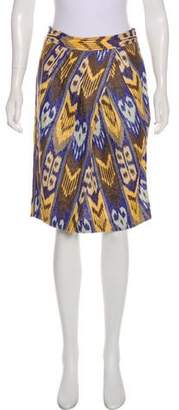 Tory Burch Linen Pencil Skirt