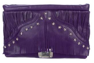 Jimmy Choo Fringe-Accented Leather Clutch