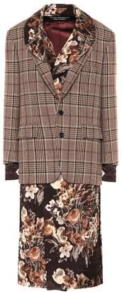 Junya Watanabe Wool blazer and floral hybrid dress