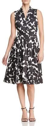 Donna Karan Sleeveless Floral-Print Fit-and-Flare Dress
