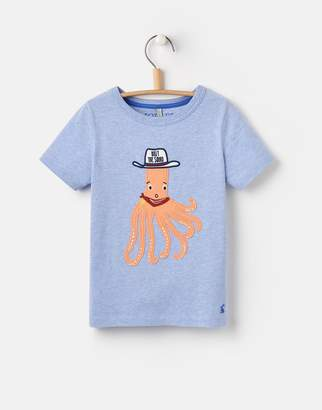 Joules Clothing Apple Green Chimpon Archie Applique Thirt 1yr