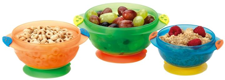 Munchkin 3-pk. Stay-Put Suction Bowls with Lids