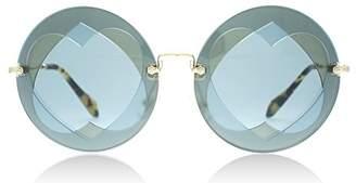 Miu Miu MU01SS VA06P2 MU01SS Round Sunglasses Lens Category 2 Si