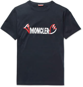 Moncler Genius - 2 1952 Printed Cotton-Jersey T-Shirt - Navy