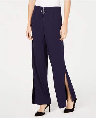 NY Collection Petite Wide Split-Leg Pants