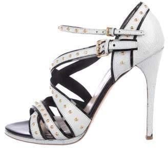 689f86e32b08 Miu Miu Crossover Straps Women s Sandals - ShopStyle