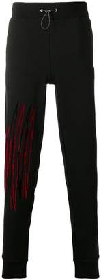 Plein Sport line embroidered track pants