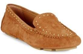 Calvin Klein Lolly Studded Suede Loafers
