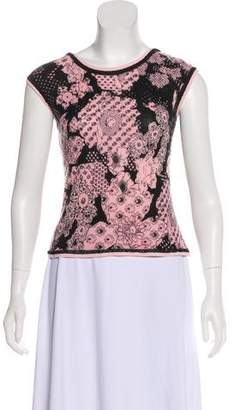 Christian Lacroix Cashmere Printed Top