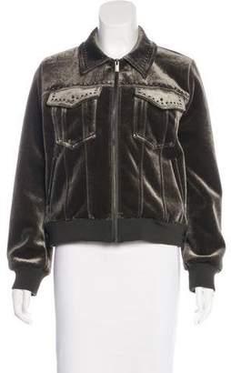 The Kooples Velvet Studded Jacket