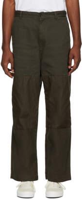 Comme des Garcons Homme Khaki Mix Trousers