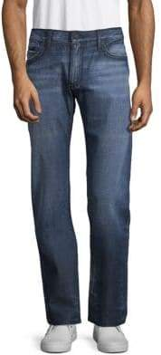 Flap Pocket Straight Leg Jeans