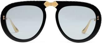 Aviator foldable acetate sunglasses