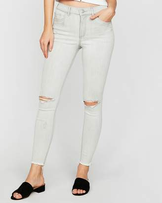 Express High Waisted Denim Perfect Stretch+ Ankle Jean Leggings