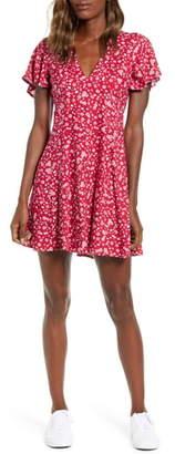 MinkPink Sweet Like Me Floral Print Minidress