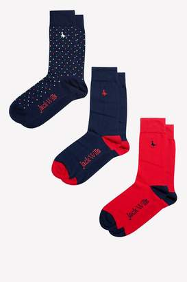 Jack Wills Rowlings 3 Pack Socks