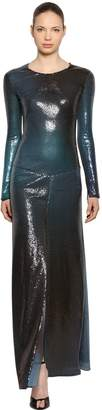 Roberto Cavalli Sequined Long Dress
