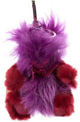 Burberry Shearling Thomas Bear Bag Charm w/ Tags violet Shearling Thomas Bear Bag Charm w/ Tags