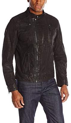 Levi's Men's Moto Racer Leather Jacket