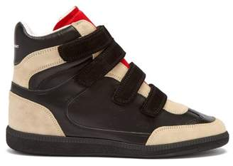 Isabel Marant - Bilsy Concealed Wedge Leather Trainers - Womens - Black