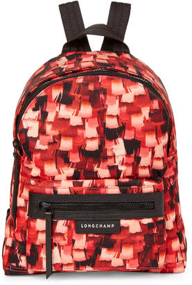 Longchamp Red Le Pliage Printed Neo Small Backpack