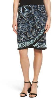 Women's Nic+Zoe Beaming Faux Wrap Skirt $148 thestylecure.com