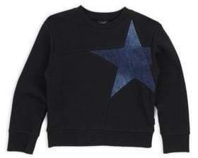 Diesel Little Boy's& Boy's Denim Star Sweatshirt