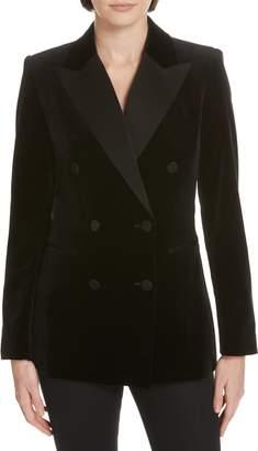 Theory Stretch Velvet Tuxedo Jacket