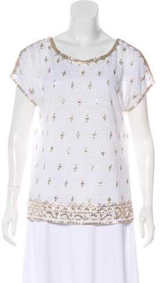 Calypso Embellished Short Sleeve Top