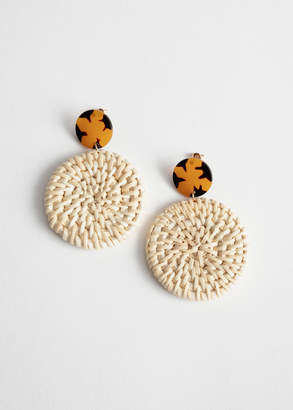 And other stories Woven Disc Earrings